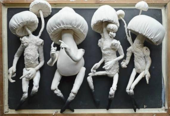 Pilze aus einer Ausstellung in einem Anthropology Shop